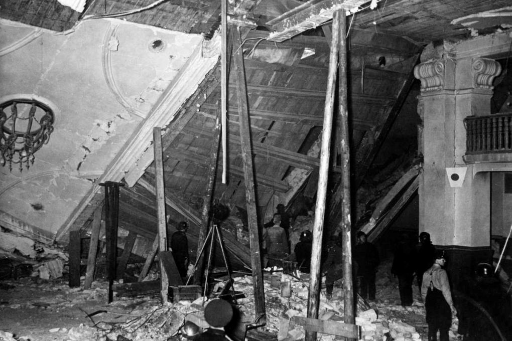 Мюнхен, пивной бар «Бюргербройкеллер» после покушения на Гитлера 8 ноября 1939 года