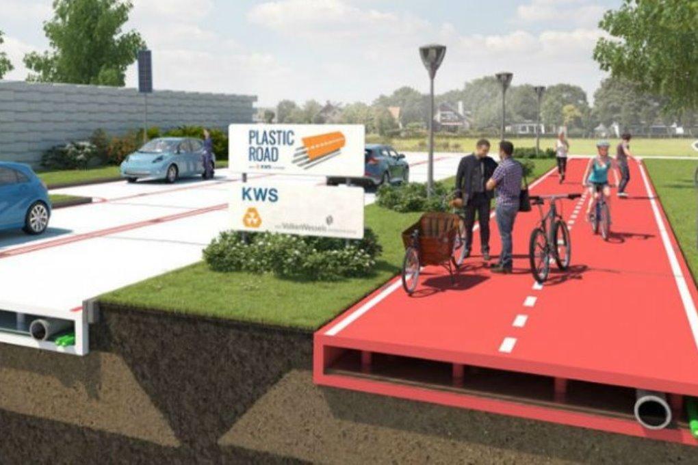 Нидерланды будут строить дороги из пластика