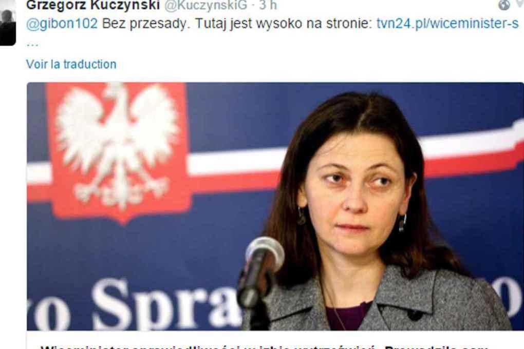 Заместителя министра юстиции Польши уволили за пьянку