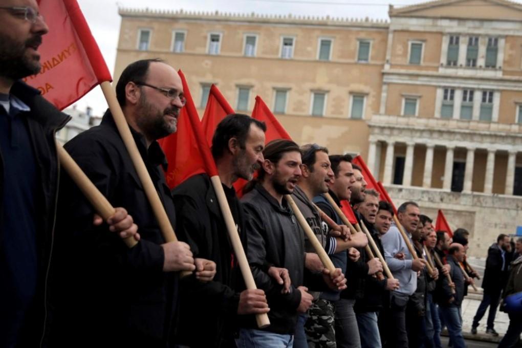 Греческая полиция применила к недовольным пенсионной реформой слезоточивый газ